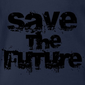 Save The Future - Black Shirts - Organic Short-sleeved Baby Bodysuit