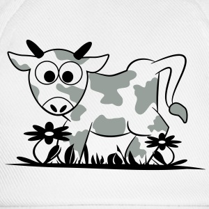 Mr. Moo Cow flower meadow 2c T-Shirts - Baseball Cap