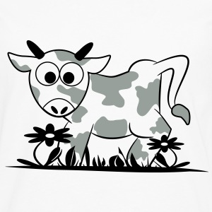 Mr. Moo Cow flower meadow 2c T-Shirts - Men's Premium Longsleeve Shirt