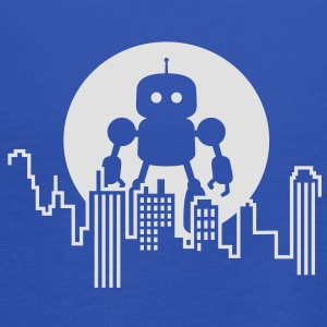 Robot City Skyline T-Shirts - Women's Tank Top by Bella