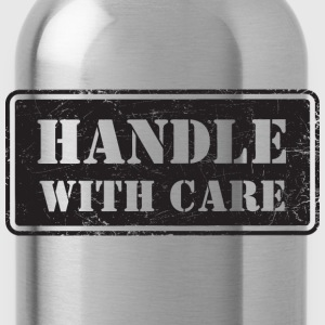 Handle With Care - Grungy Distressed Look - Water Bottle