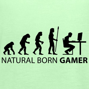 evolution_born_gamer1 T-Shirts - Women's Tank Top by Bella