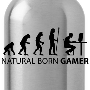 evolution_born_gamer1 T-Shirts - Water Bottle