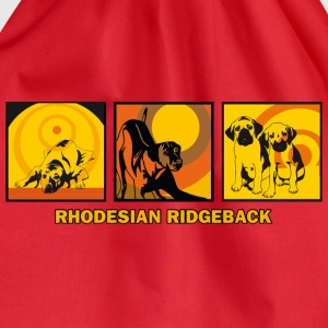 Rhodesian Ridgebacks Pop Art T-shirts - Gymnastikpåse