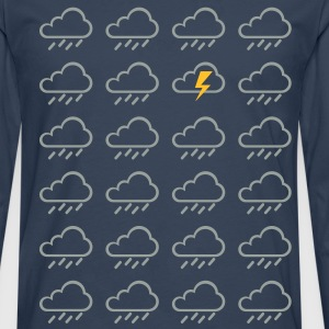 Weather clouds  T-Shirts - Men's Premium Longsleeve Shirt