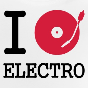 :: I dj / play / listen to electro :-: - Baby-T-shirt