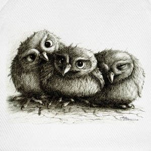 three young owls - Baseballkasket