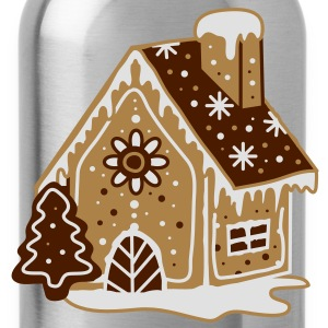 A gingerbread house, gingerbread and frosting  T-Shirts - Water Bottle