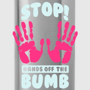 Stop! Hands off the bumb T-shirts - Drinkfles
