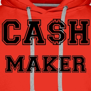 Cash Maker Tee shirts - Sweat-shirt à capuche Premium pour hommes