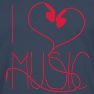 I heart Music Tee shirts - T-shirt manches longues Premium Homme