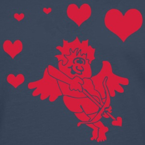 Cupid with Hearts Bow and Arrow Camisetas - Camiseta de manga larga premium hombre