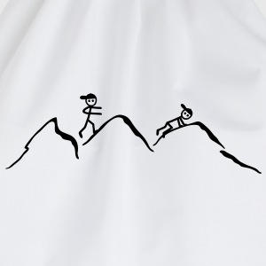 Climber in the mountains T-Shirts - Drawstring Bag