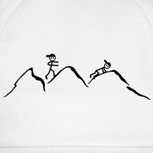 Climber in the mountains T-Shirts - Baseball Cap