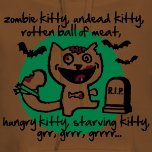zombie kitty, undead kitty, rotten ball of meat... T-shirts - Vrouwen Premium hoodie