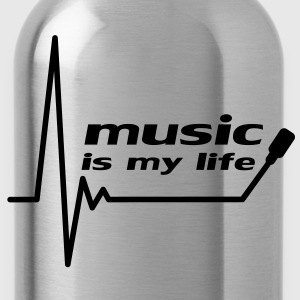 music_is_my_life Magliette - Borraccia