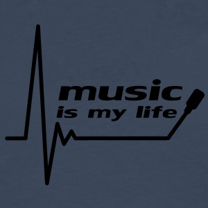 music_is_my_life T-skjorter - Premium langermet T-skjorte for menn