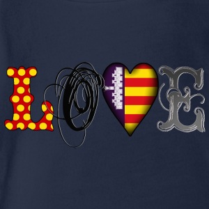 Love Mallorca Black T-Shirts - Baby Bio-Kurzarm-Body