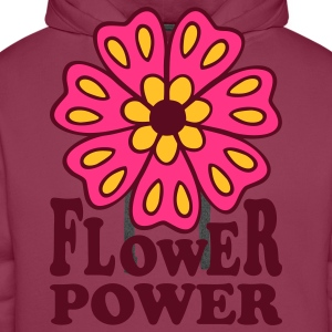 Flower Power 70s Retro Goa Flowers Hippie T-Shirts - Men's Premium Hoodie