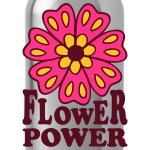 Flower Power 70s Retro Goa Flowers Hippie T-Shirts - Water Bottle