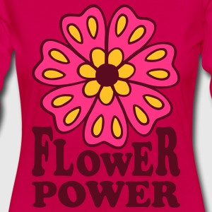 Flower Power 70s Retro Goa Flowers Hippie T-Shirts - Women's Premium Longsleeve Shirt