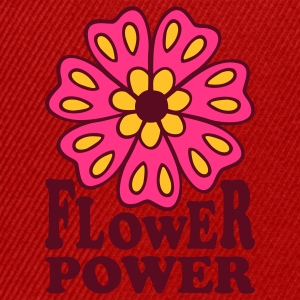 Flower Power 70s Retro Goa Flowers Hippie T-Shirts - Snapback Cap