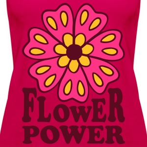 Flower Power 70s Retro Goa Flowers Hippie T-Shirts - Women's Premium Tank Top