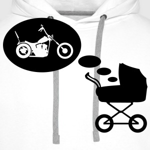 Stroller dream chopper  T-Shirts - Men's Premium Hoodie