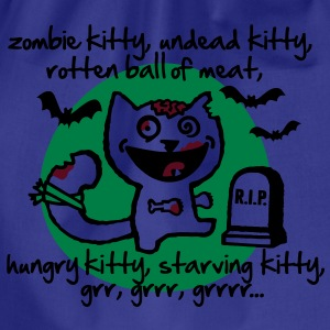 zombie kitty, undead kitty, rotten ball of meat... T-Shirts - Drawstring Bag
