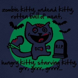 zombie kitty, undead kitty, rotten ball of meat... T-Shirts - Baseball Cap