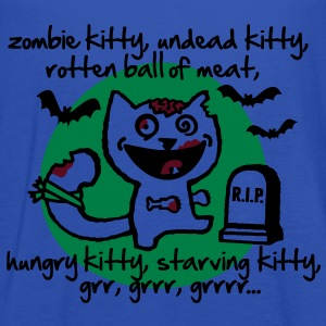 zombie kitty, undead kitty, rotten ball of meat... T-Shirts - Women's Tank Top by Bella