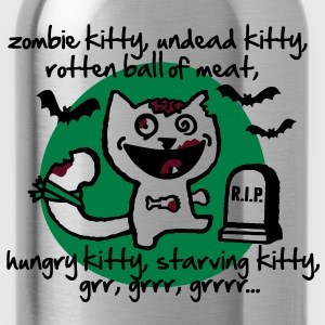 zombie kitty, undead kitty, rotten ball of meat... T-Shirts - Water Bottle