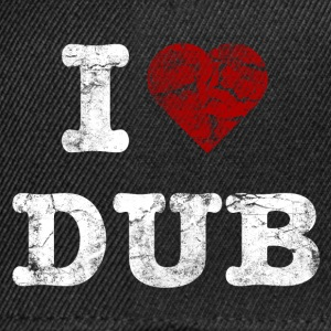I Love DUB vintage light T-shirts - Snapback cap