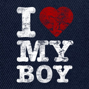 I Love my BOY vintage light Camisetas - Gorra Snapback