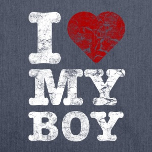 I Love my BOY vintage light T-shirts - Skuldertaske af recycling-material