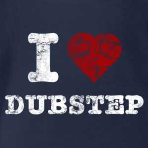 I Love DUBSTEP vintage light T-Shirts - Baby Bio-Kurzarm-Body