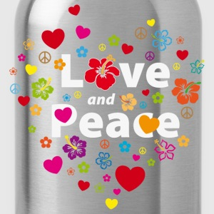 Girlieshirt Love and Peace - Trinkflasche