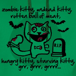 zombie kitty, undead kitty, rotten ball of meat... T-Shirts - Männer Premium Hoodie