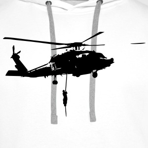 Helicopter action T-Shirts - Men's Premium Hoodie