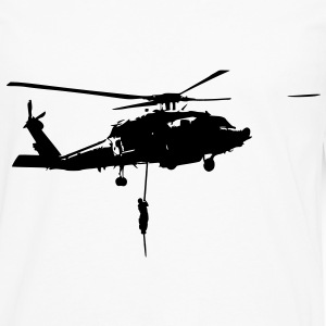 Helico intervention forces speciales Tee shirts - T-shirt manches longues Premium Homme
