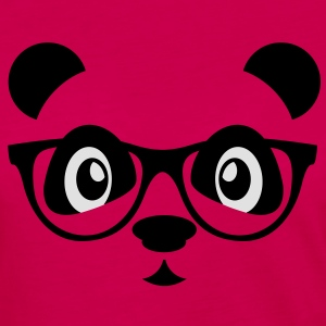 panda with glasses T-shirts - Långärmad premium-T-shirt dam