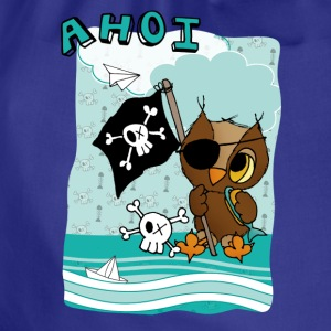 Pirateneule AHOI T-Shirts - Turnbeutel