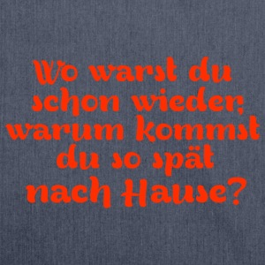 wo_warst_du T-Shirts - Schultertasche aus Recycling-Material