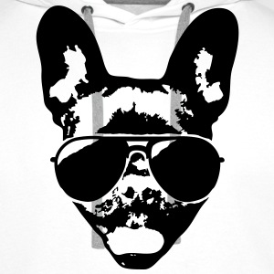 French bulldog with sunglasses T-Shirts - Men's Premium Hoodie