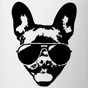 French bulldog with sunglasses T-Shirts - Mug