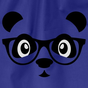 panda with glasses T-shirts - Gymnastikpåse