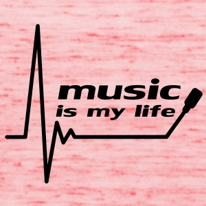 music_is_my_life T-shirts - Dame tanktop fra Bella
