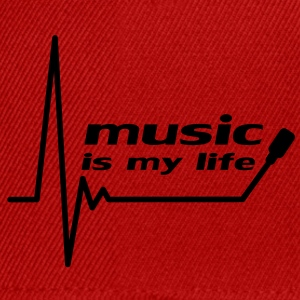 music_is_my_life Magliette - Snapback Cap