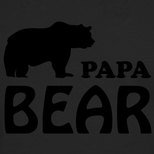 papa bear daddy dad T-Shirts - Men's Premium Longsleeve Shirt