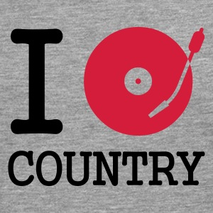 :: I dj / play / listen to country :-: - Herre premium T-shirt med lange ærmer